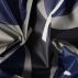 Woven oilcloth blue/grey big leaves