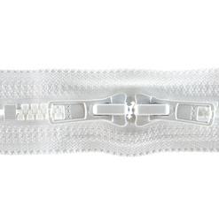YKK zip 6mm 2-way closed end white