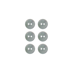 Button 2-holes pearl 11mm light blue 6pc