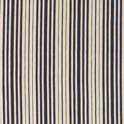 Yarn dyed navy/nature striped