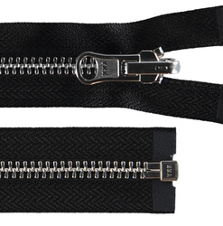 YKK zip 6mm reversible metal black