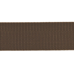 Webbing ribbon nylon 38mm brown 5m