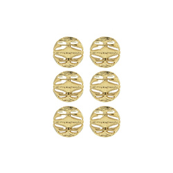 Shank button 21mm gold 6 pcs