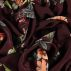 Woven viscose bordeaux w big flower