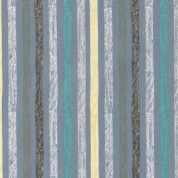 Cotton dusty blue w abstract stripes