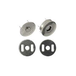 Button magnetic 18mm dull silver 1 pc