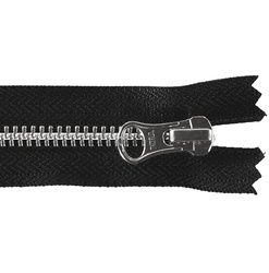 YKK zip 6mm closed end black/silver