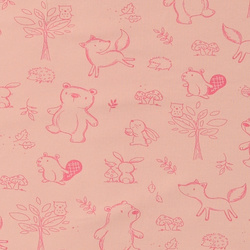 Organic st jersey soft rose w animals