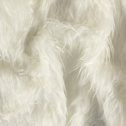 Fake long haired fur white 50mm