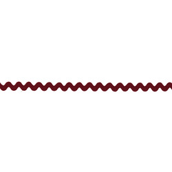 Ric rac ribbon 5mm dark red 3m