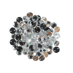 Rhinestone 8mm transparent 80-100 pcs