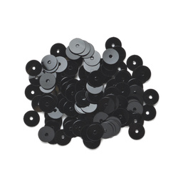 Sequins 6 mm black 10g