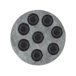 Magnet 15mm black 8pcs