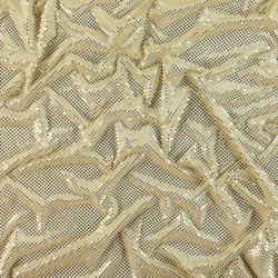 Knit with foil sequins cream 3mm