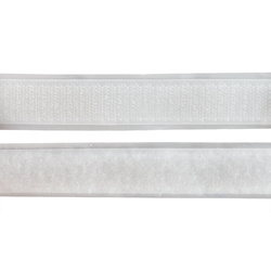 Self-adhesive Hook/Loop tape20mm whit25m
