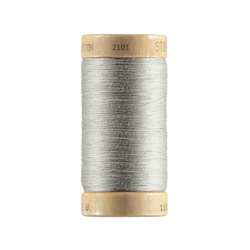 Sewing thread organic cotton ltgrey 100m