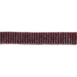 Tube knit 15mm grey mixture/red 1m