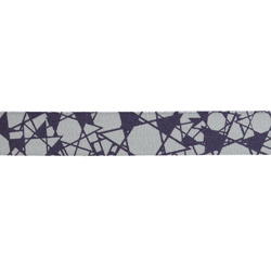 Ribbon printed 15mm purple/light grey 3m