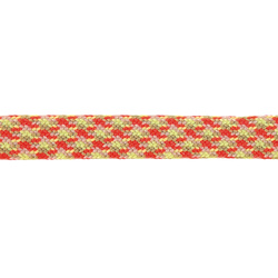 Ribbon woven 20mm neon orange/olive 3m