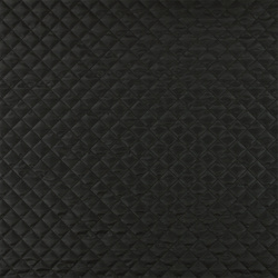 Twill quilted black with lining