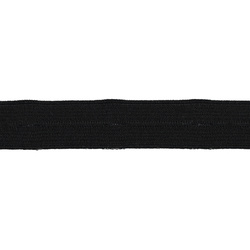 Buttonhole elastic 19mm black 3m