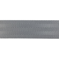 Ribbon woven nylon 38mm grey 4m