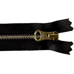 YKK zip 4mm closed end black/gold