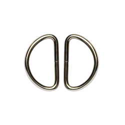 D-ring heavy 32mm silver 2pcs