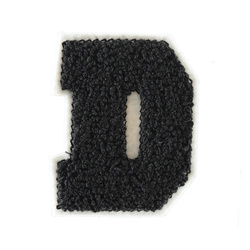 "Patch ""D"" black"