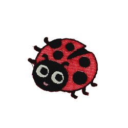 Patch ladybug 24x33mm red 1pc