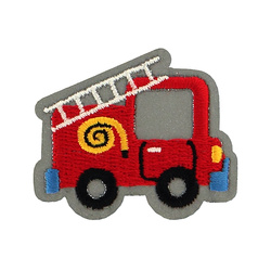 Patch fire engine reflex 44x41mm red 1pc