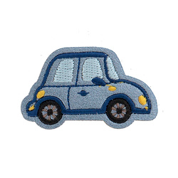 Patch car 50x28mm light blue 1pc