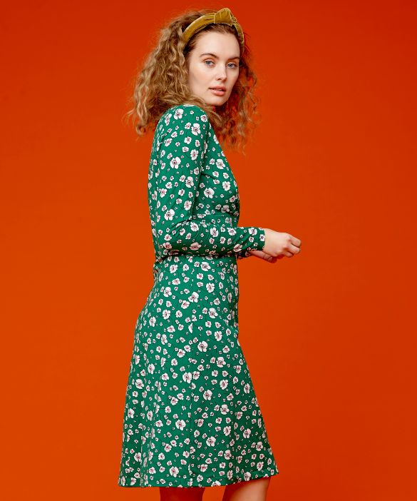 Hair band and empire style dress