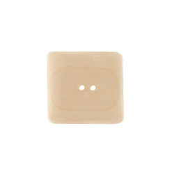 Button wood 2-hole 50x50mm nature 1 pc