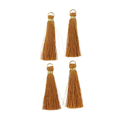 Pendant tassels 4,5cm curry 4pcs