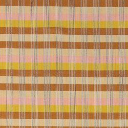 wholesale dealer 49b34 80a43 Woven viscose yellow brown check stripe