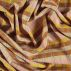 Woven viscose yellow/brown check/stripe