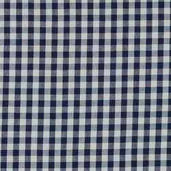 Cotton yarn dyed dark blue/white check