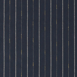 Woven linen navy with lurex stripe