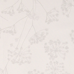 Jacquard white/grey flower pattern
