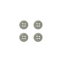 Button corozo 12mm 4-holes grey 4pcs