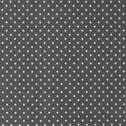 Cotton grey w white dots