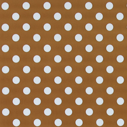 Non-woven oilcloth d curry w white dots