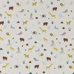 Organic cotton nature w safari animals