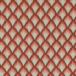 Jacquard terracotta with diamond pattern