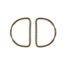 D-ring W38xH25xD3mm gold 2 pcs