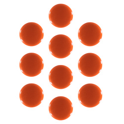 Shank button 11mm orange 10pcs