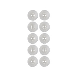 Button 2-holes 12mm white 10pcs