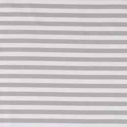 Woven grey/nature striped yarn dyed