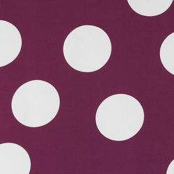 Crepe satin light aubergine w big dots
